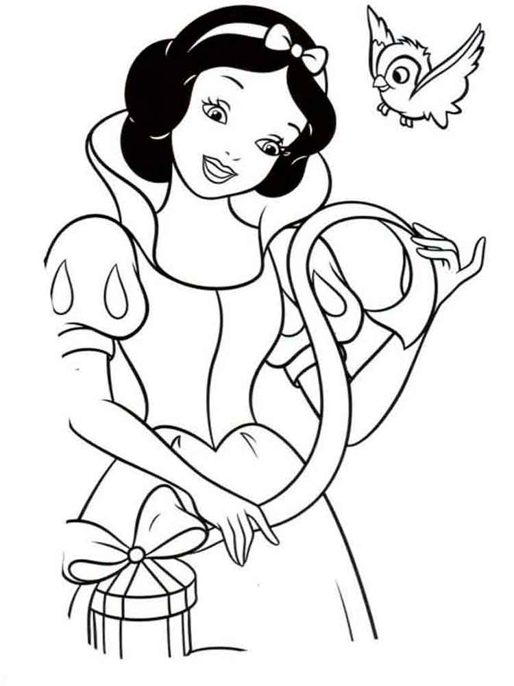 Snow white coloring pages. Download and print Snow white