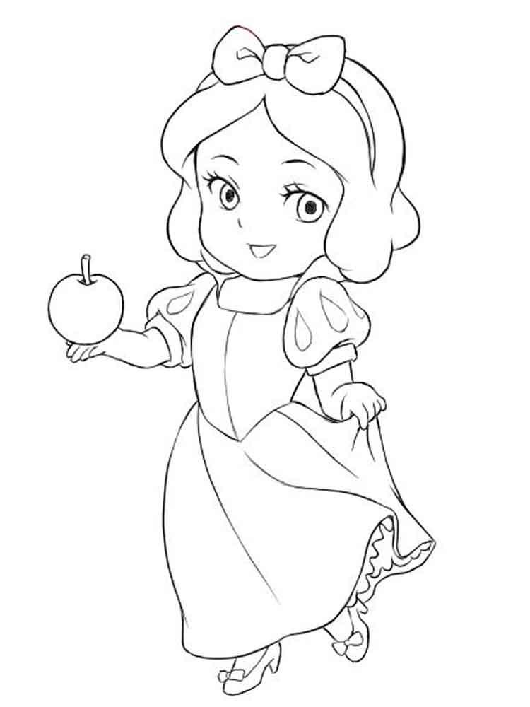 Baby Princess Coloring Pages : princess, coloring, pages, Princess, Coloring, Pages., Printable