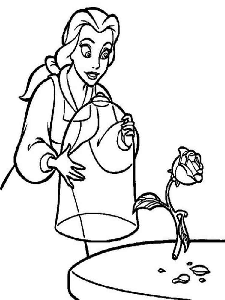 Beauty and the beast coloring pages. Download and print