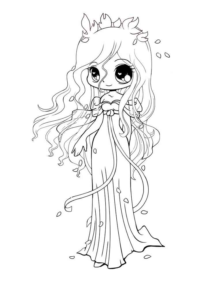 Chibi coloring pages. Free Printable Chibi coloring pages.