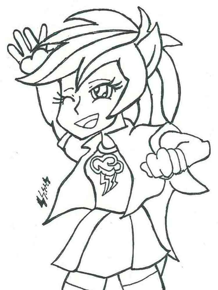 Equestria girls coloring pages. Download and print
