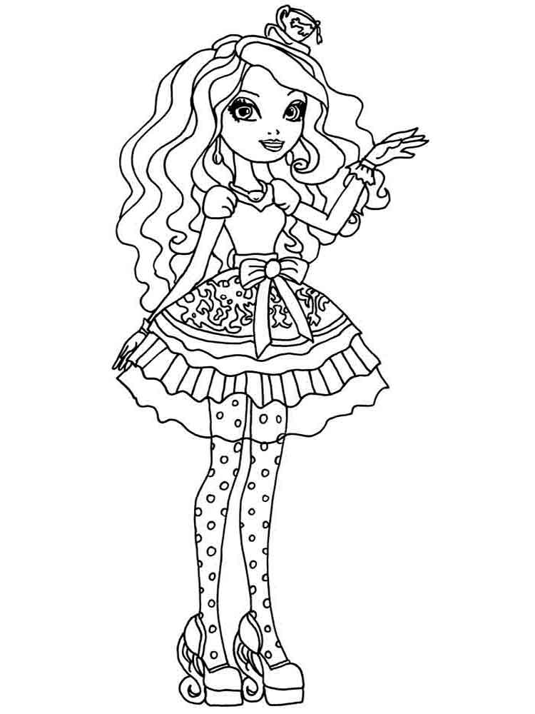Ever after high coloring pages. Download and print Ever