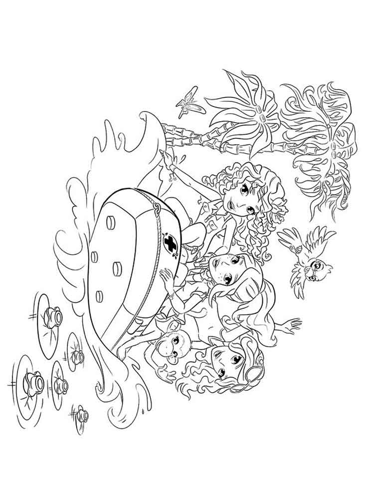 lego friends coloring pages. free printable lego friends