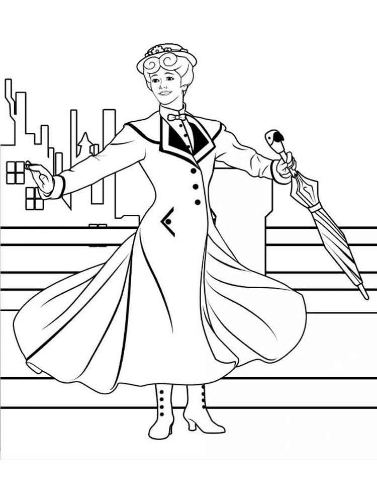 mary poppins coloring pages. free printable mary poppins