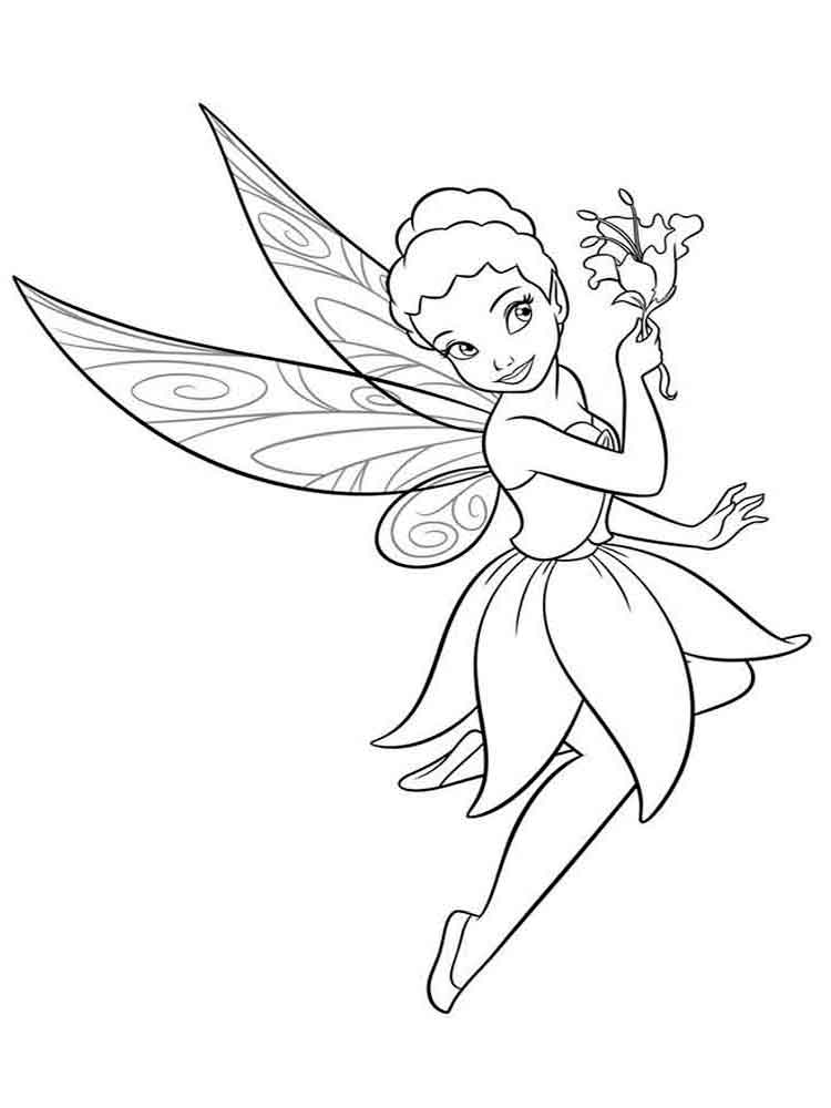 Tinkerbell coloring pages. Download and print Tinkerbell