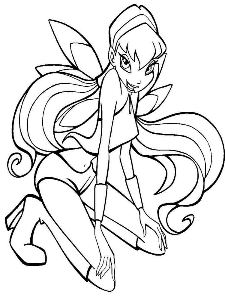 Stella Winx coloring pages. Download and print Stella Winx