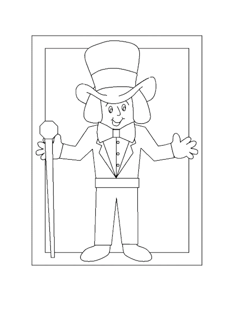 Charlie and the Chocolate Factory coloring pages. Free