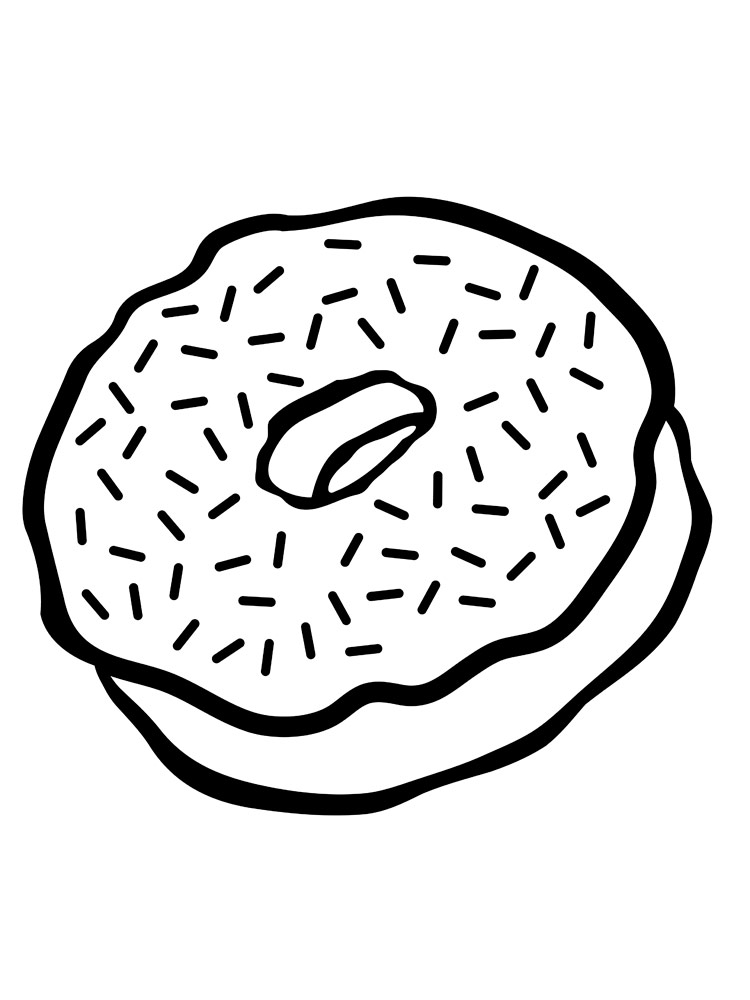 Donut coloring pages. Free Printable Donut coloring pages.