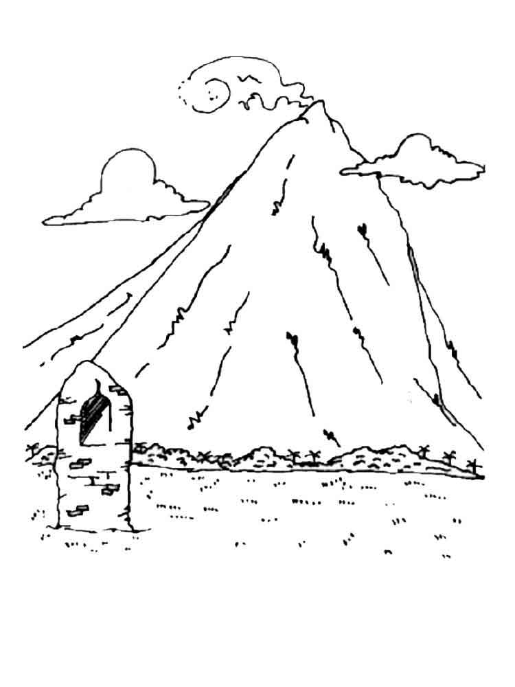 Mountain Pictures Mountains Coloring Page Sketch Coloring Page