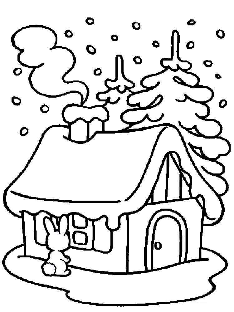 Winter coloring pages. Download and print winter coloring