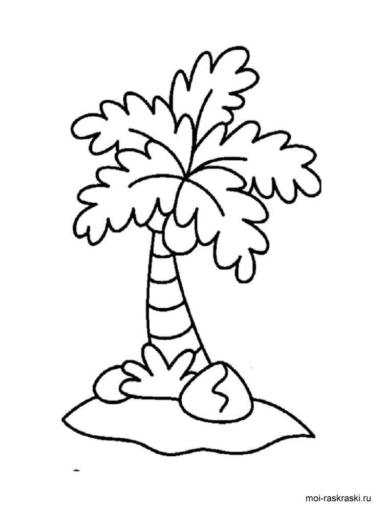 palm tree coloring pages for kids. free printable palm