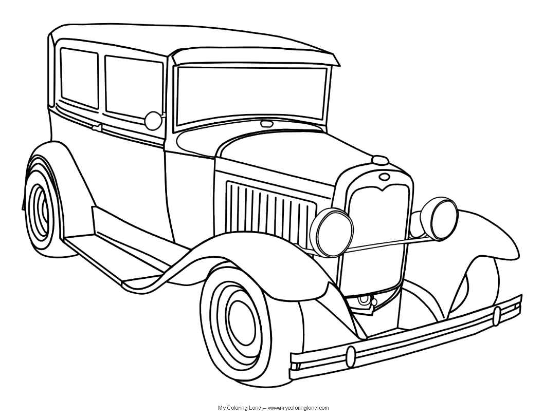Clic Car Coloring Pages Free Coloring Page