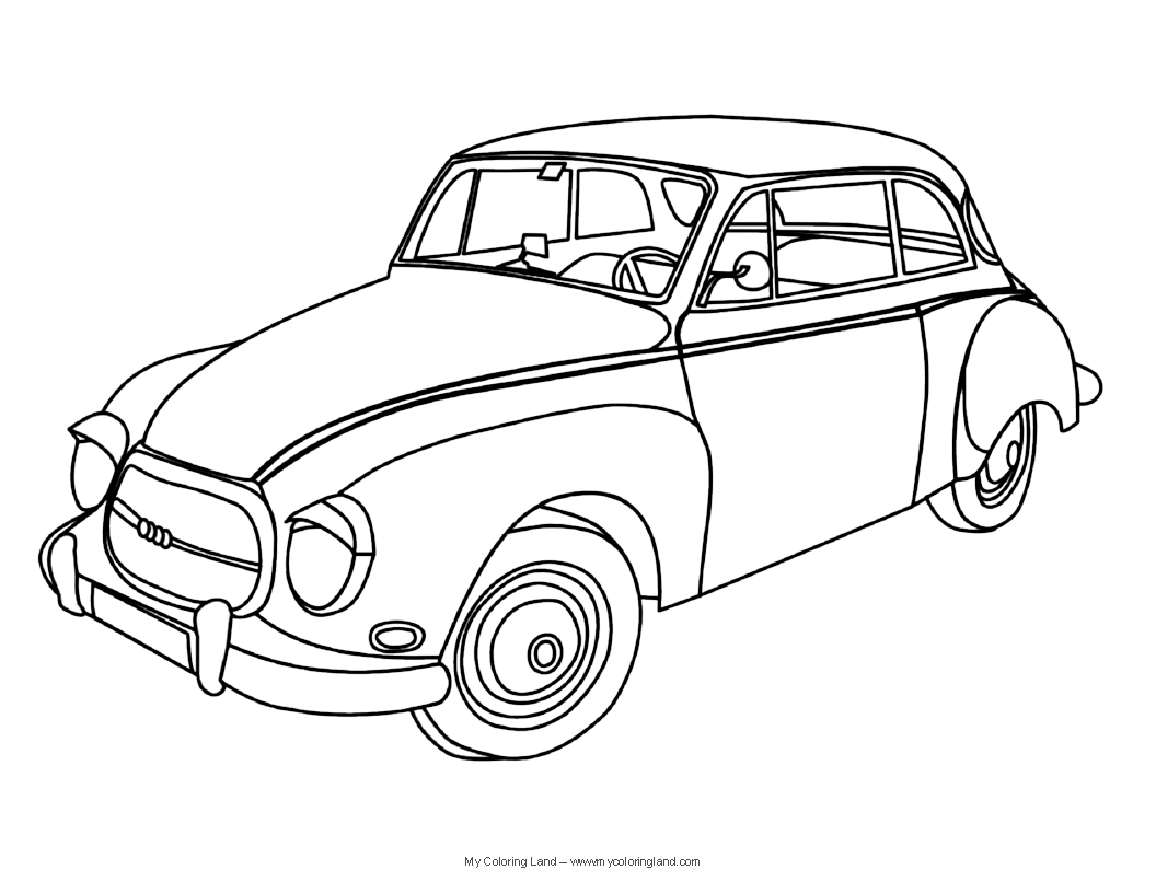 Classic Cars Coloring Pages