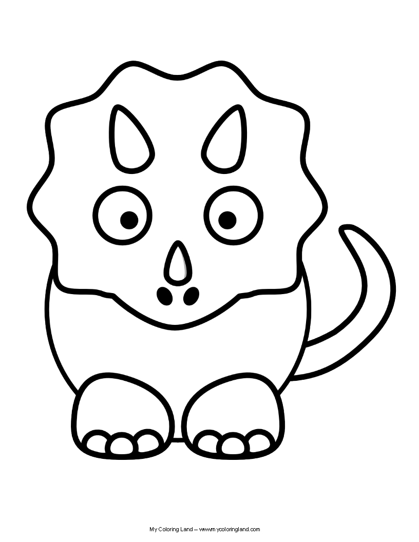 Baby Dinosaur Coloring Pages For Kids Novocom Top