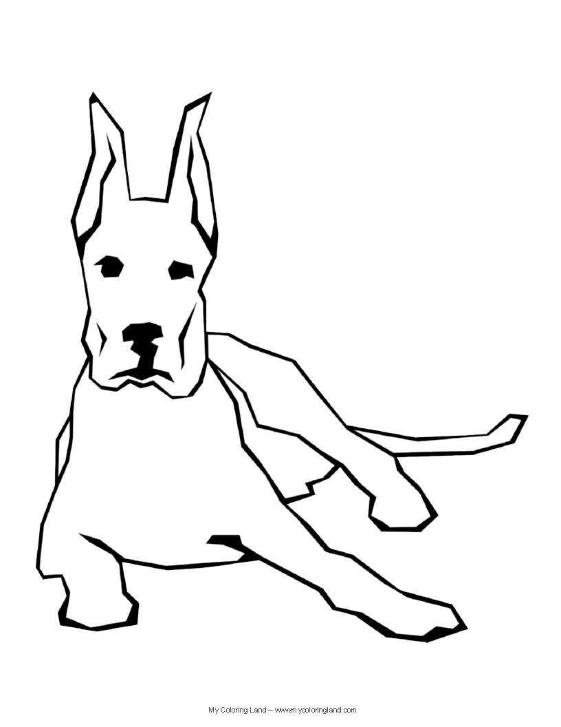 Dog Man Pages Coloring Pages