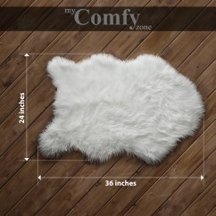 Fur Chair Cover Stair Lift Reviews Sheepskin Faux Rug Seat Pad Area Rugs