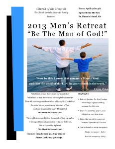 2013 Men's Retreat Flyer