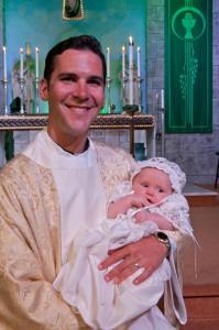 Alan at Baptism
