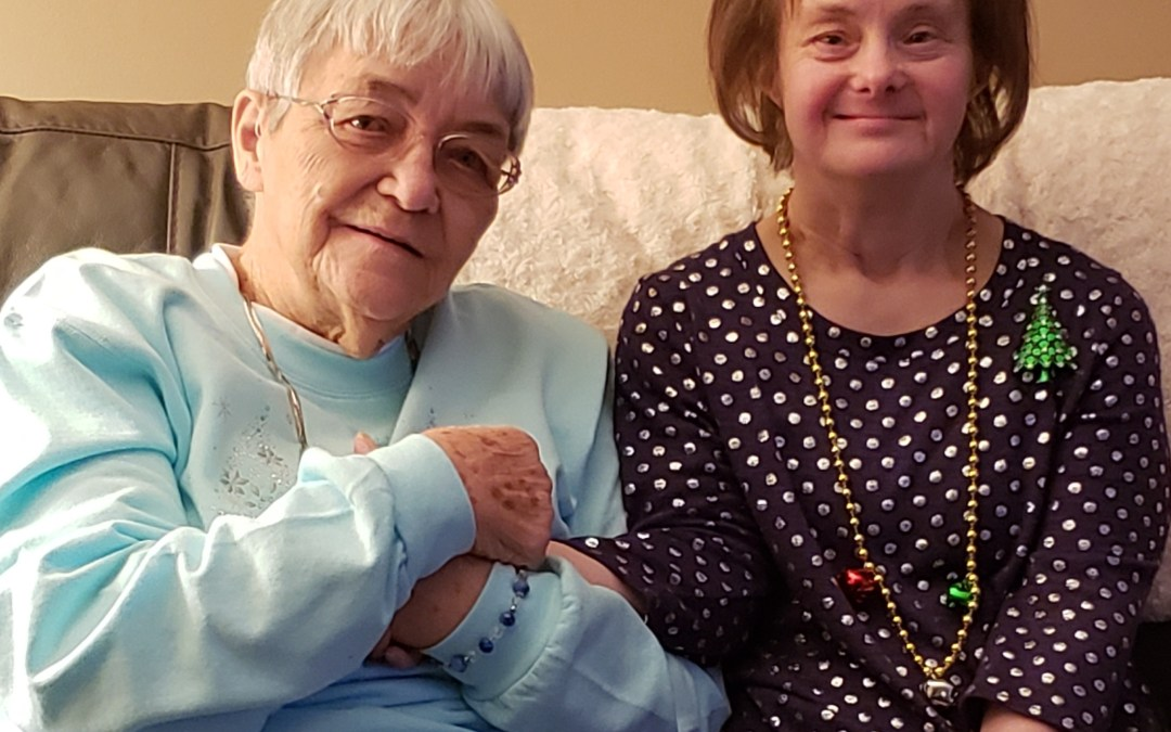 Elderly woman with Down Syndrome female