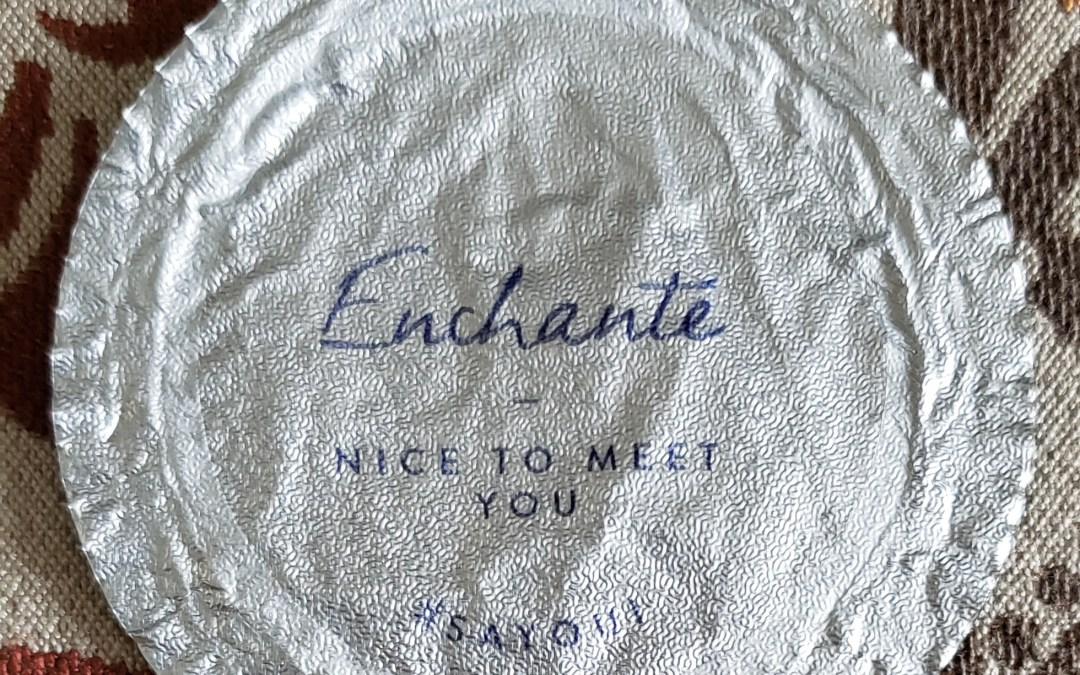 Enchante yogurt lid message