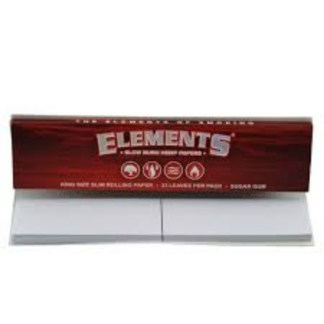 ELEMENTS RED CONNOISSEUR KING SIZE SLIM W/TIPS, 33/LVS + 34 TIPS