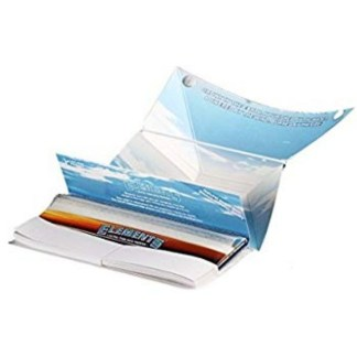 ELEMENTS ARTISANO ULTIMATE THIN RICE PAPERS with TIPS & TRAY KING SIZE, PACK/33