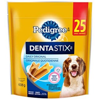 Pedigree Denta Stix Daily Original Dog Treats 25 Sticks