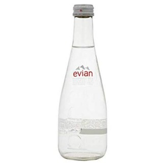 Evian Natural Spring Water In Glass 330 ML