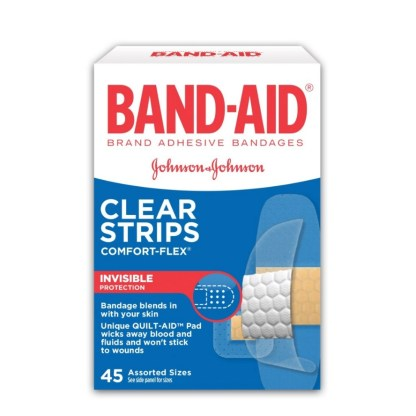 Band-Aid Clear Strips 45 Assorted Sizes