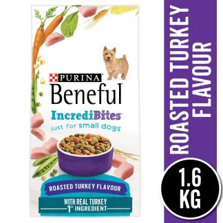 Purina Beneful Incredibites Dry Dog Food for Small Dogs, Roasted Turkey Flavour