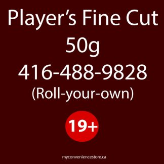 Player's Fine Cut 50g Cigarette Tobacco – (Roll-your-own) – Loose Tobacco