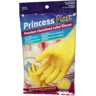Ansell Princess Picot Premium Flock lined Latex Gloves