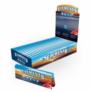 Elements 1/4 Ultimate Thin Rice Rolling Papers With Magnet