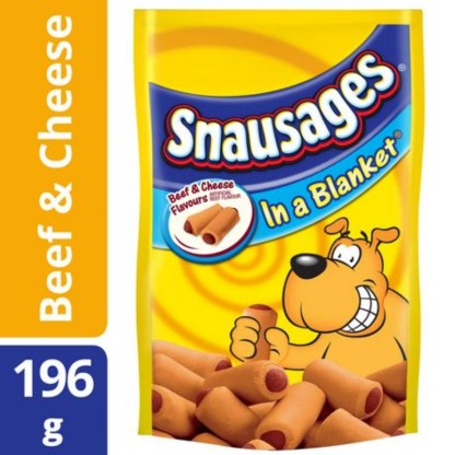 Snausages Beef And Cheese Flavours Dog Treat 196 Gram