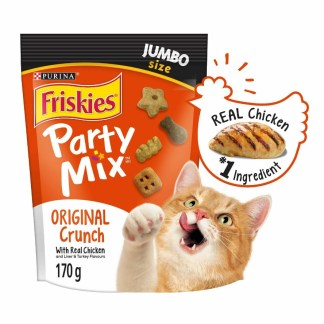 Purina Friskies Party Mix Real Chicken Cat Treats 283 g