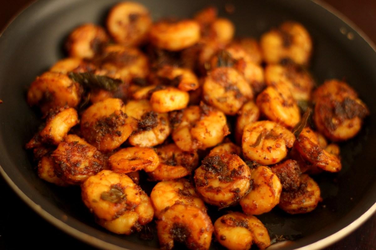 Roast Kerala Style Shrimp