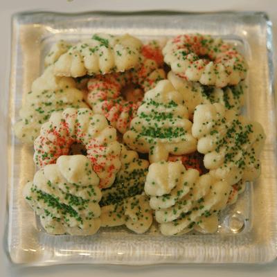 Tender cream cheese spritz cookies