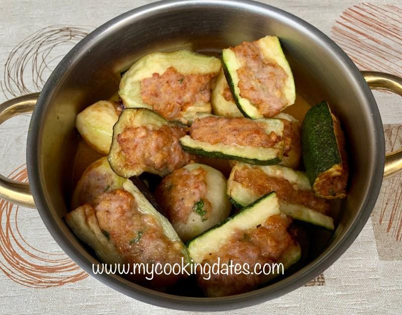 Patatas y verduras rellenas