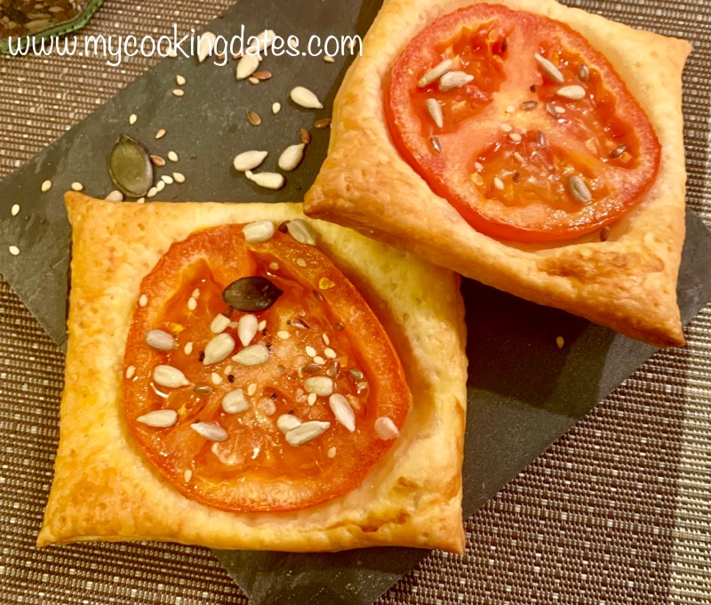 Tomates con hojaldres