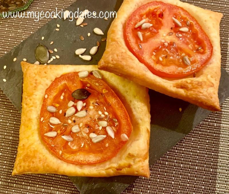 Tomates con hojaldres