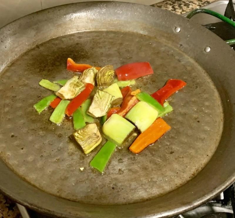 arroz de conejo y verduras