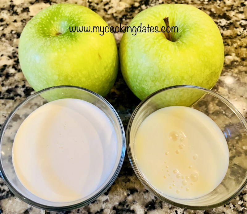 Ingredientes Mousse de Manzana
