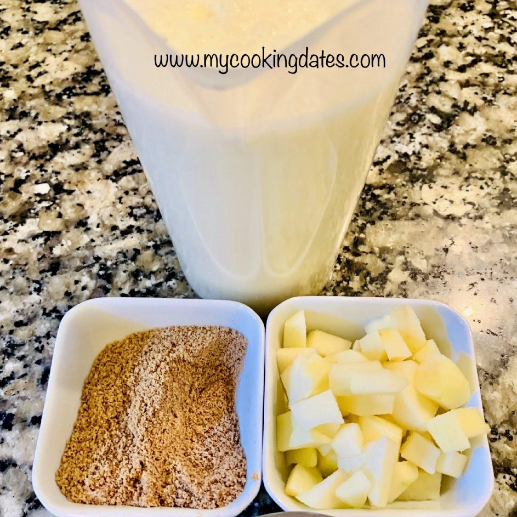 Ingredientes mousse de manzana