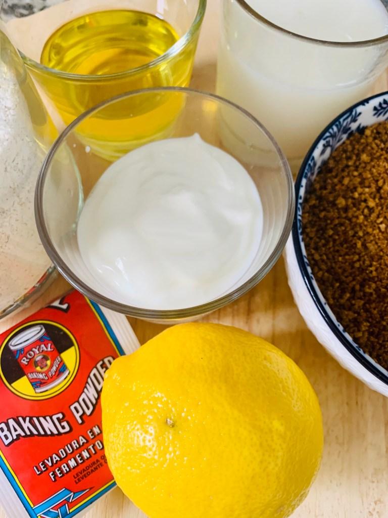 Ingredientes Bizcocho sin Huevo