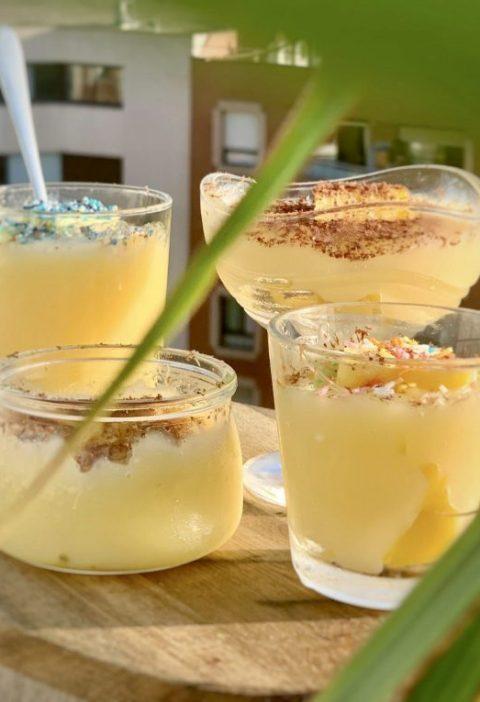 Crema de limón y piña