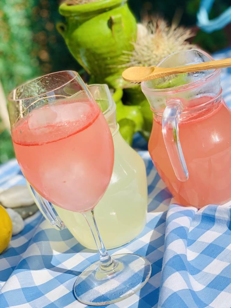 Limonada Rosa con Sandía