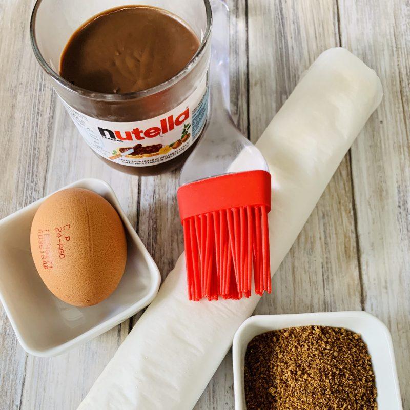 Ingredientes Palmeras de Hojaldre con Nutella