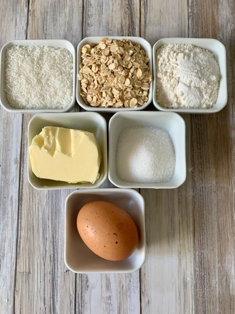 Ingredientes Galletas de Coco
