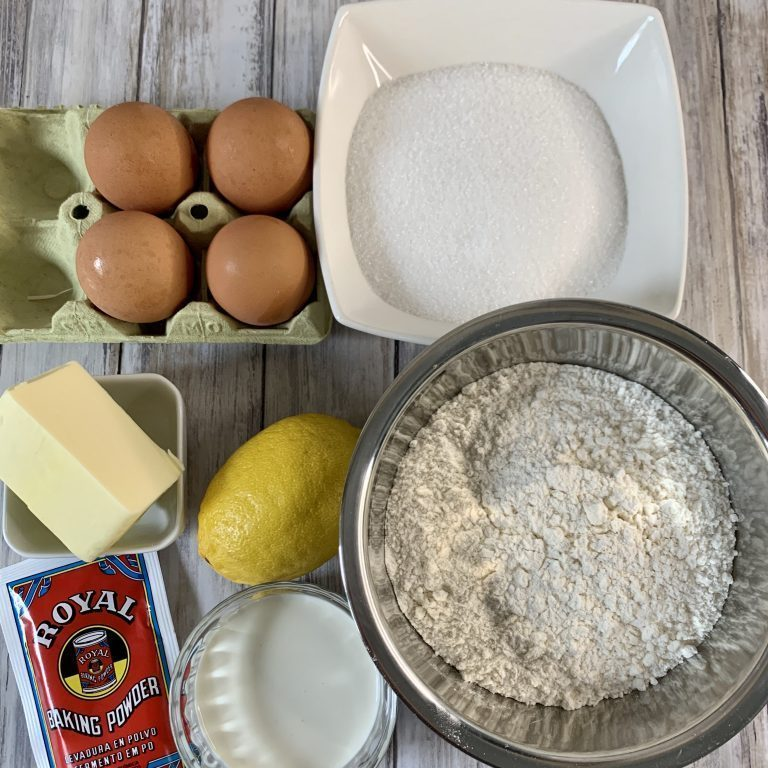 Ingredientes Pastel de limón