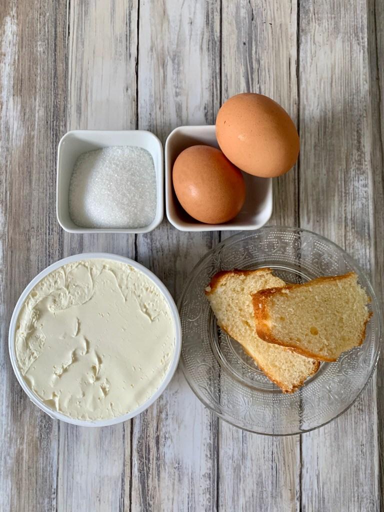 ingredientes tiramisu sin cafe